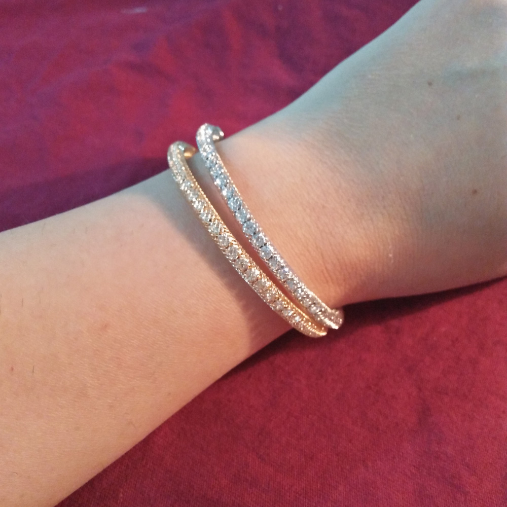 2 Piece - Silver and Gold Bracelet Set