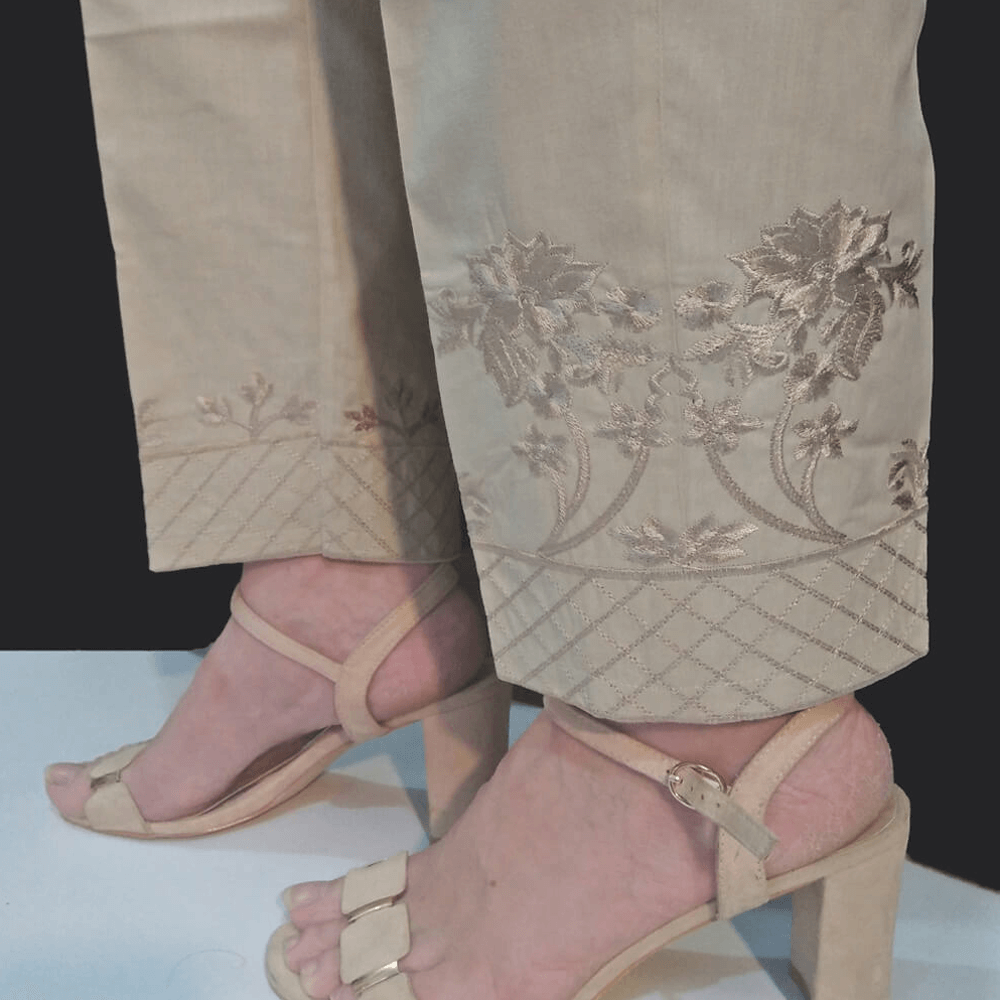 Embroided Trouser Cotton Pant