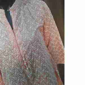 Full Embossed Peach Kurti Top