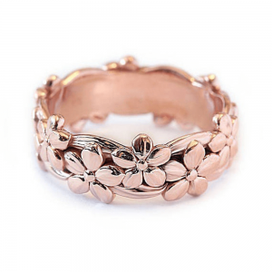 Flower Metal Ring - Rose Gold