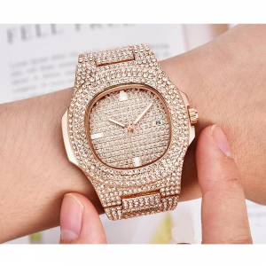 Diamante Watch For Women Rose Gold