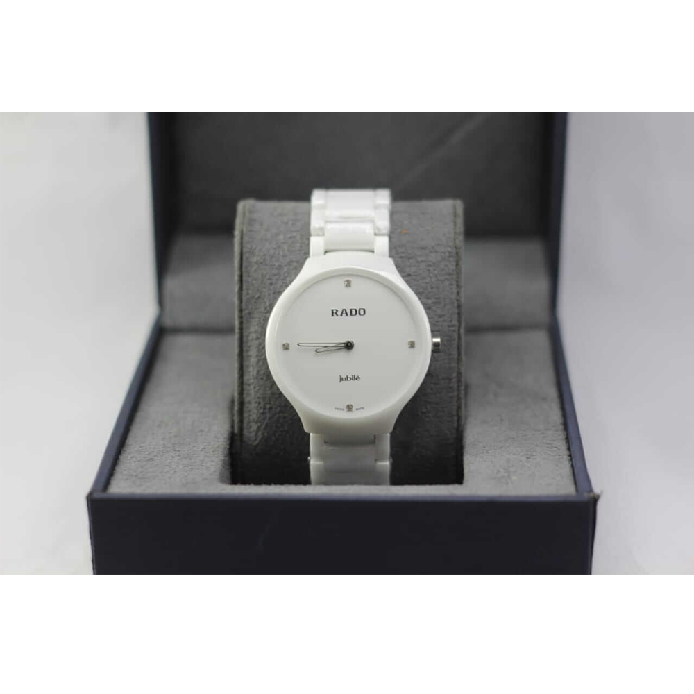 white ceramic strap watch
