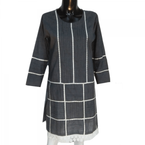 Grey Lawn Kurti Soft And Comfortable - Trendy Look