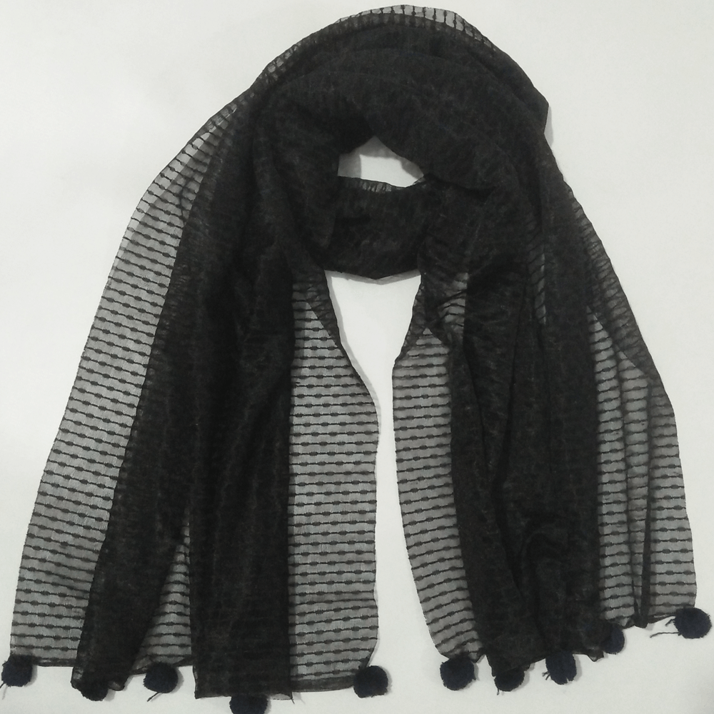 Jersey Scarf With Balls