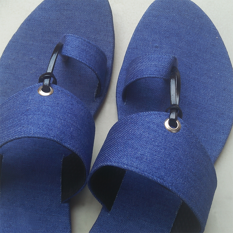 Denim Ladies Flat Shoes 1