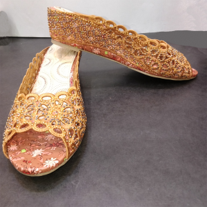 Flat Shoes With Stone Gold 1