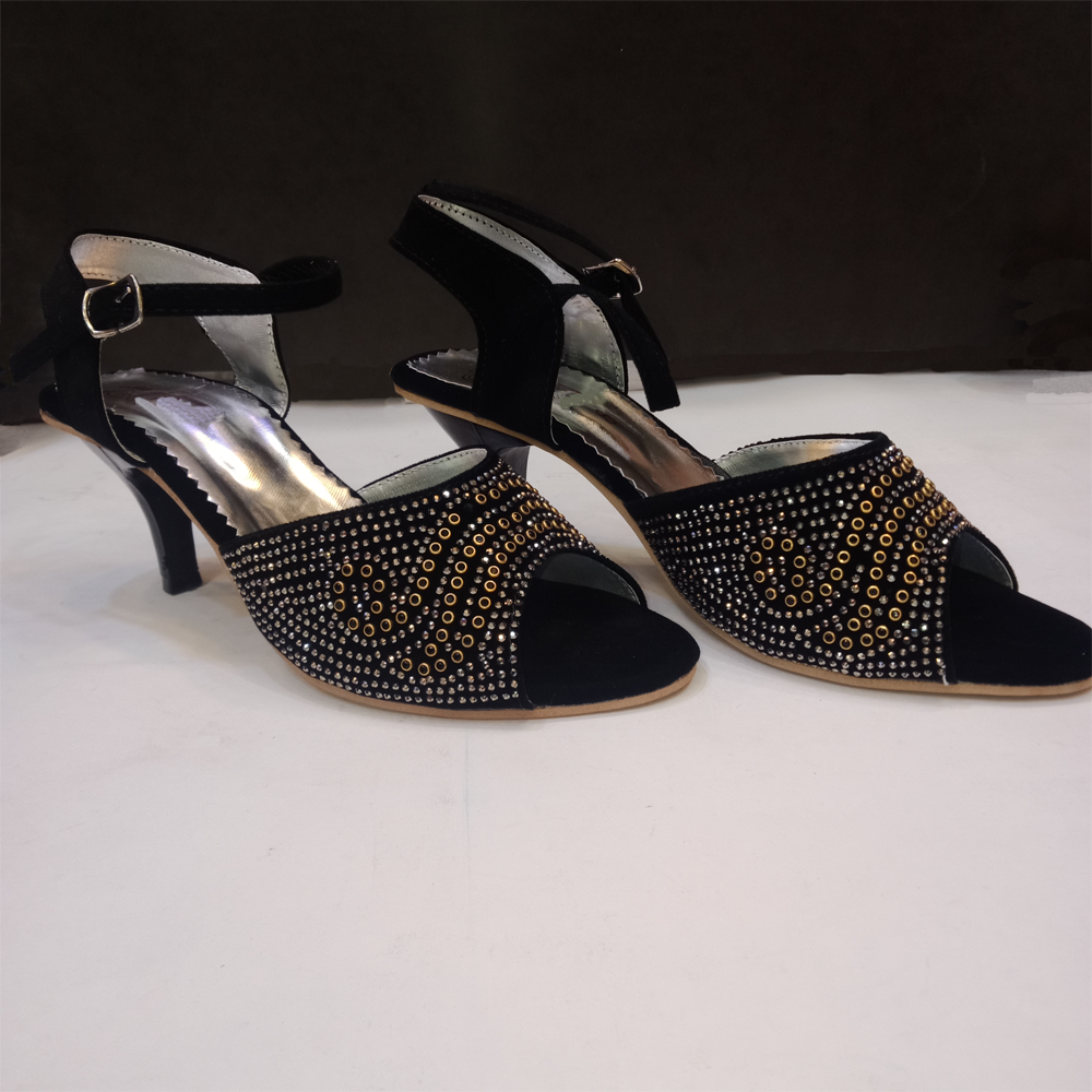 Heel Shoes For Women With Beads 1