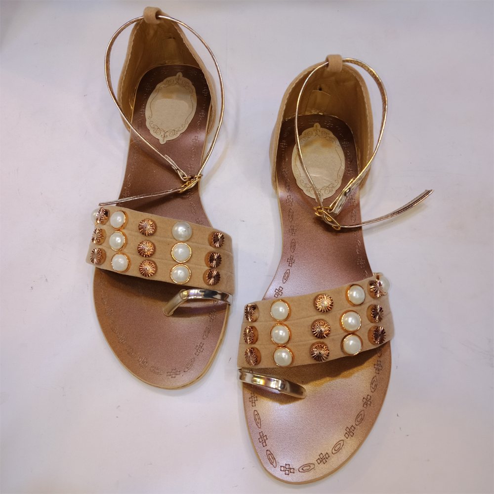 Ladies Flat Sandals Shoes 1