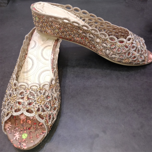 Ladies Flat Shoes with stone 1