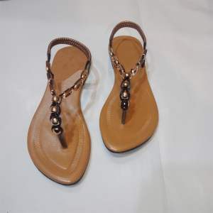 Suede Look Ladies Flat Sandal 1