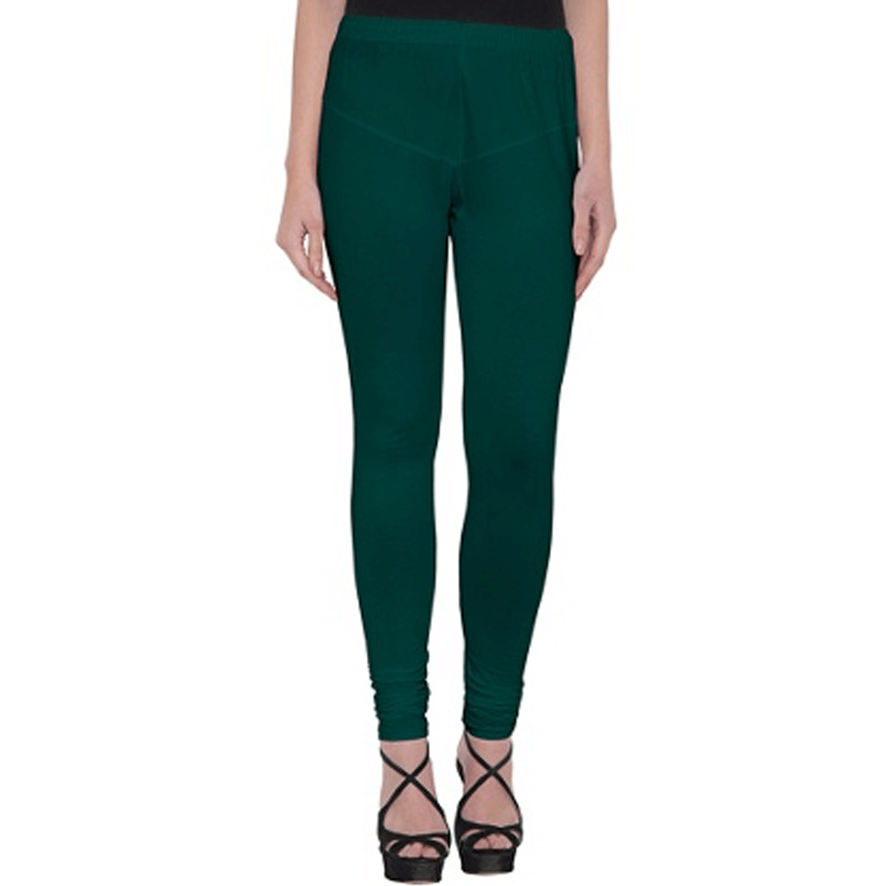 Dark Green Stretchable Leggings Lycra Tights
