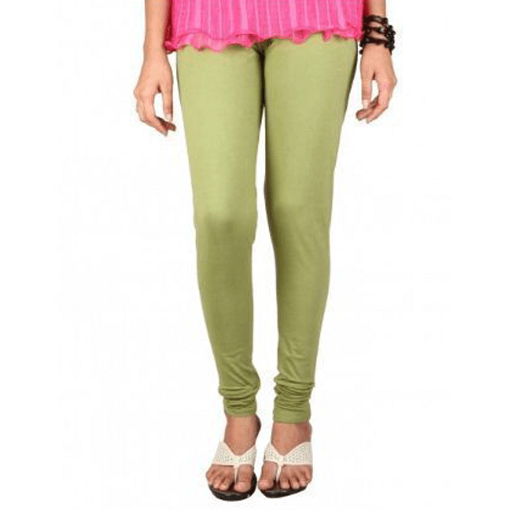 Olive Green Stretchable Leggings Lycra Tights