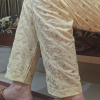 Beige Full Embroided Trouser Pant 1