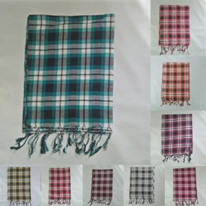 Check Print Scarfs For Women Grid