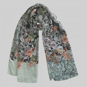 Large Lawn Floral Scarf 1