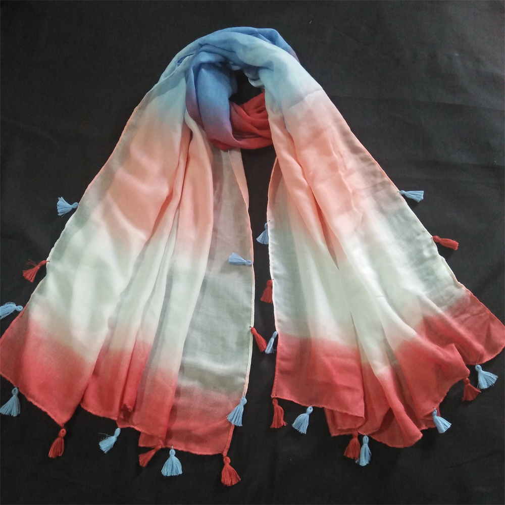 Lawn Scarf For women With Tassels 1