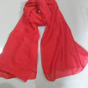 Shimmer Scarf Stole Red 1
