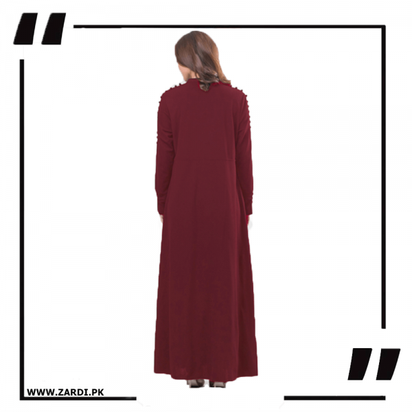 ZA20 Burgundy Maxi with A Line Style 1