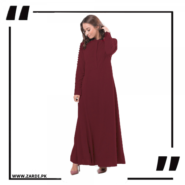 ZA20 Burgundy Maxi with A Line Style