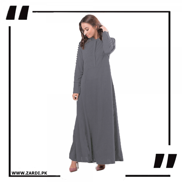 ZA20 Grey Maxi with A Line Style-