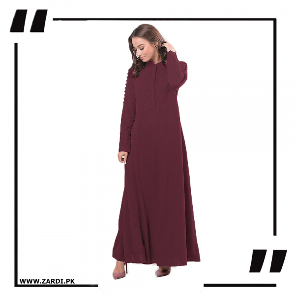 ZA20 Maroon Maxi with A Line Style-