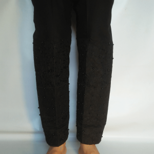 Full Embroided Pant For Women With Beads Work - Black