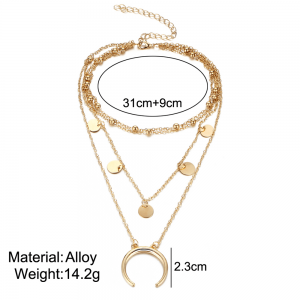Multi Layer Necklace Gold
