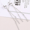 Silver - Long Drop Earring For Women Ladies - High Quality
