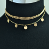 AN118-2 Multi Layer Necklace For Women Ladies Girls Party Wedding – Gold