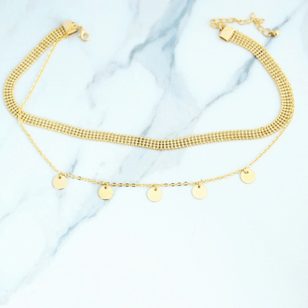 AN118 Multi Layer Necklace For Women Ladies Girls Party Wedding – Gold