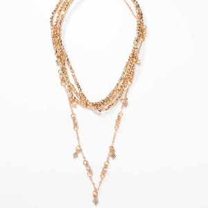 Multi Layer Necklace For Women Ladies Girls Party Wedding - Gold