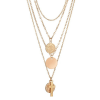 AN123-2 Multi Layer Necklace For Women Ladies Girls Party Wedding – Gold