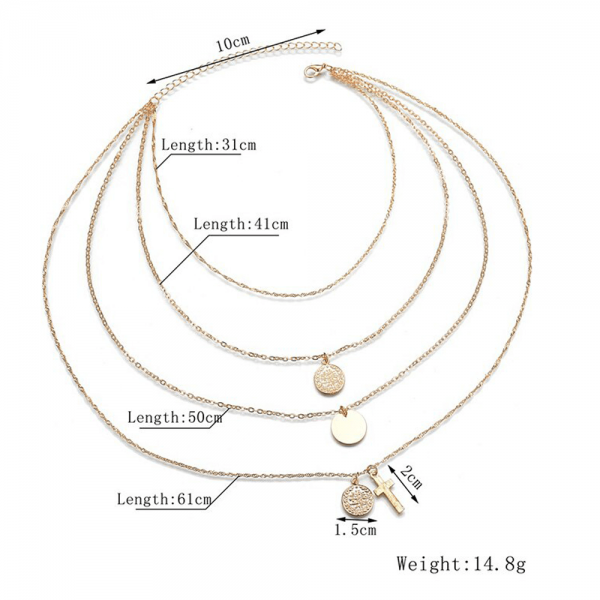 AN123- Multi Layer Necklace For Women Ladies Girls Party Wedding – Gold