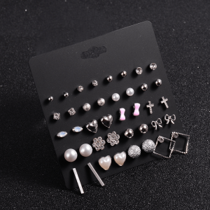 20 Pair Stud Earrings Set For Women Ladies Girls