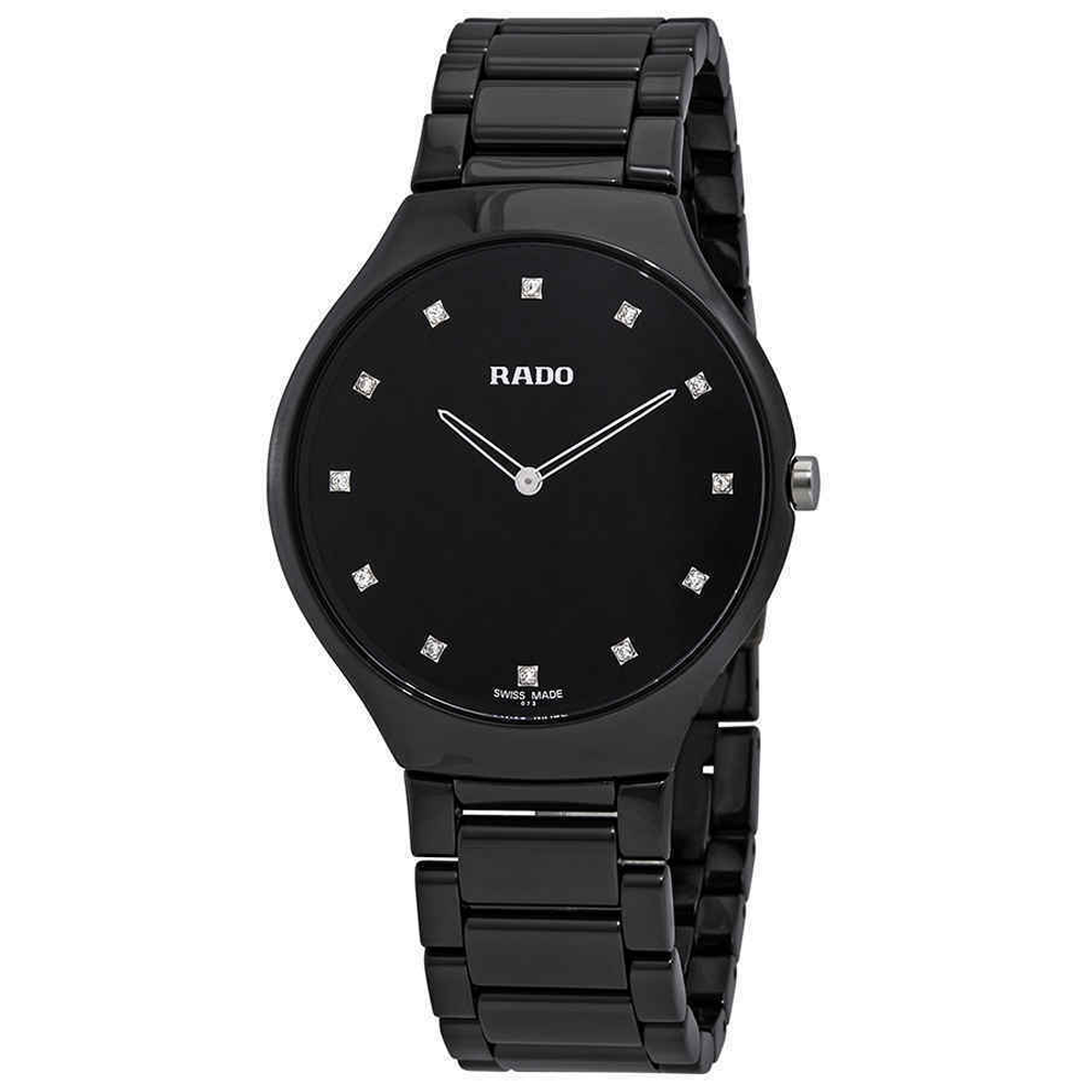 Black Ceramic Strap Watch Black 1