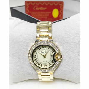 Bleu Dial Women Watch Golden Watch golden dial