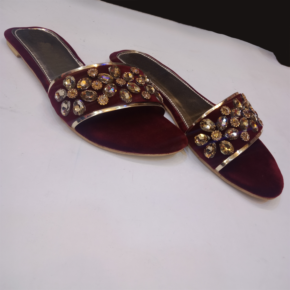 Flats For Women Burgundy 1