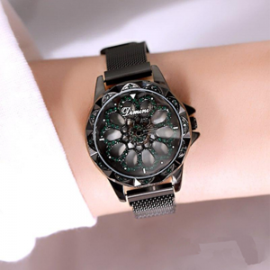 Women Watches Magnetic Strap Black