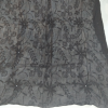 ZD153- Full Hand Embroided – Black Chiffon Dupatta With Mirror Work