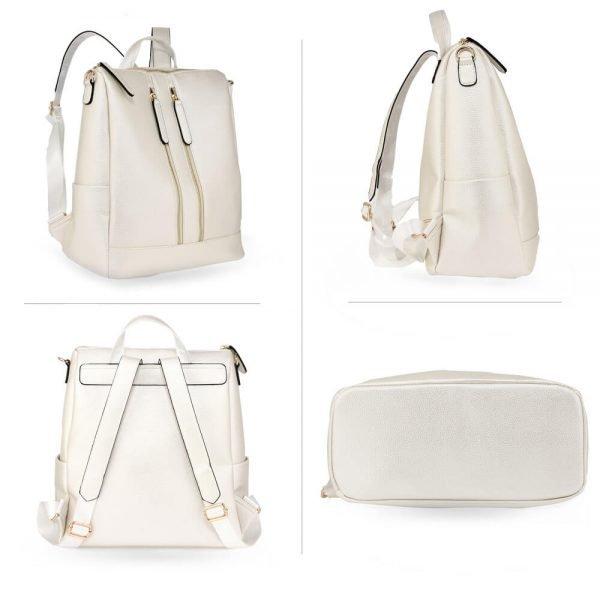 AG00523 – Ivory Backpack Rucksack School Bag_4_