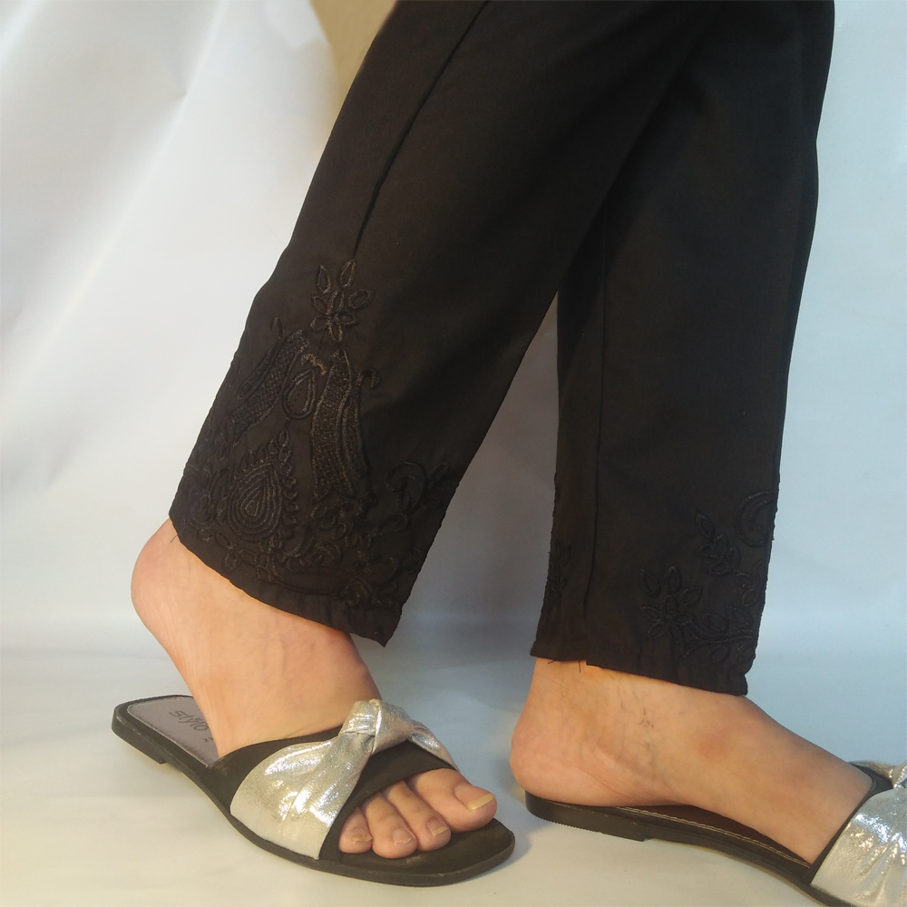 Black Embroided Trouser Pant 1