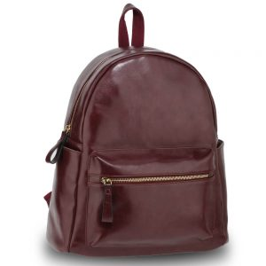 Burgundy Backpack Rucksack School Bag