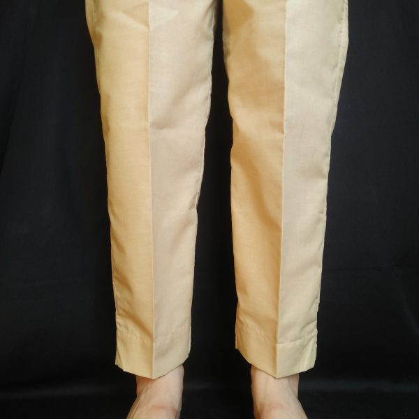 2 ZT119 Plain Trouser Pant For Women – Pure Cotton – Beige