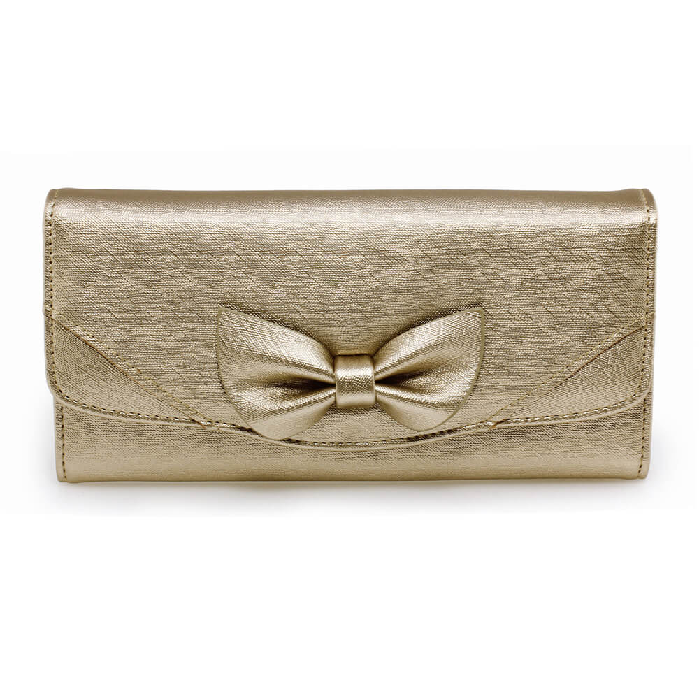 Gold Bow Tie Purse