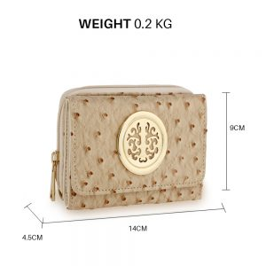 Ostrich Skin Effect Purse Wallet