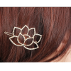 AH07 – 1 Pack of 2 – Floral Gold – Hair pins Clips