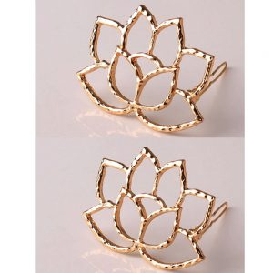 Pack of 2 - Floral Gold - Hair pins Clips
