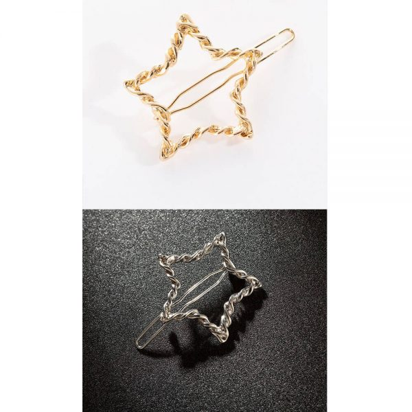 AH09 Grid Pack of 2 – Star Silver and Gold – Hair pins Clippers
