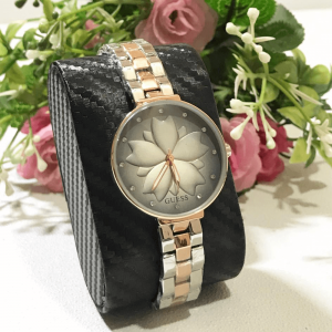 Guess Rose Gold Silver Chain Strap Watch for Women