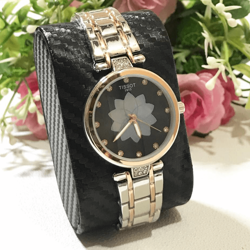 Tissot Silver diamante Chain Strap Watch for Women